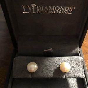 Diamonds International Pearl Earrings